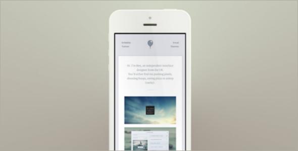 Portfolio CSS Website Template