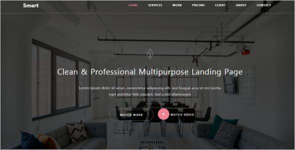 Portfolio Flash Website Template