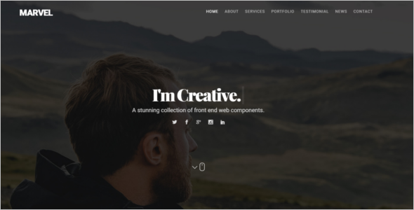 Portfolio Website HTML Template