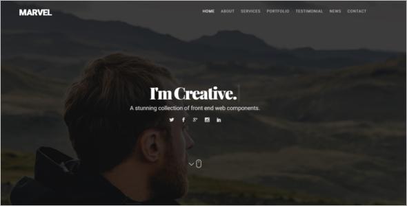 Portfolio Website HTML Template