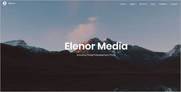 Portfolio Website Template Bootstrap