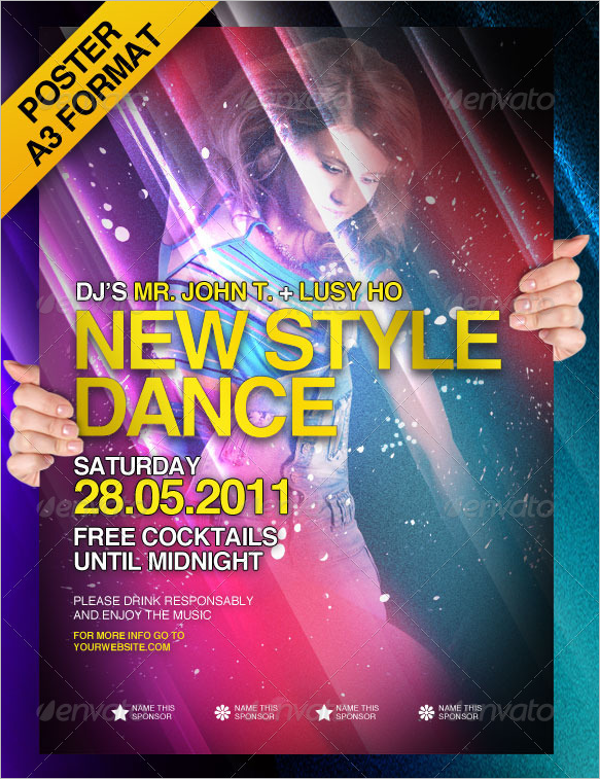 Poster Template New Style Dance