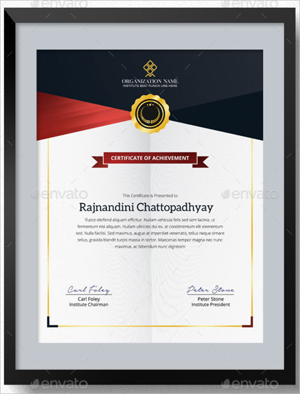 Primary School Certificate Template