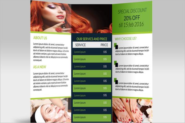 Beauty Parlour Brochure Templates Free PSD Designs Creative - Salon brochure templates