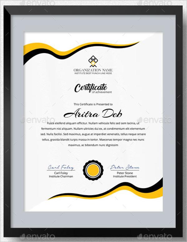 Printable Certificate of Achievement