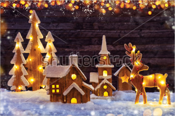 Printable Christmas Village Design