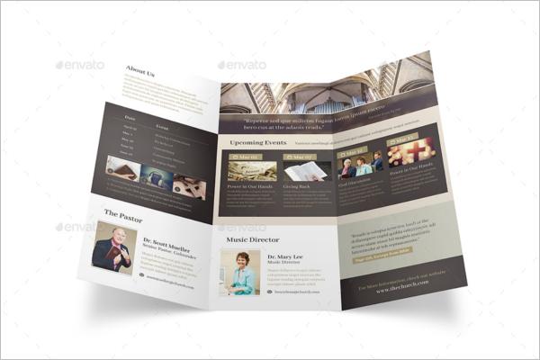 Printable Church Brochure Template