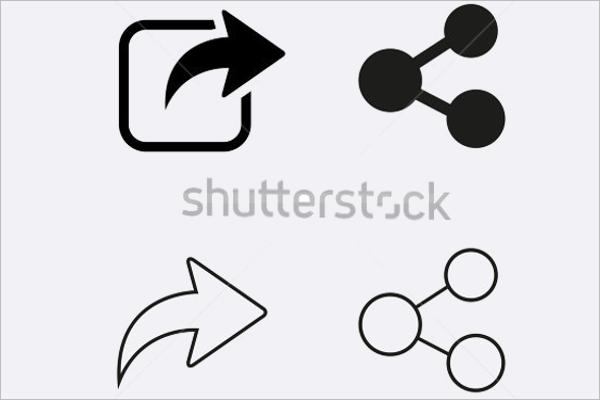 Printable Share Icons
