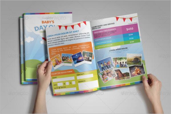 Printable kids Brochure Template