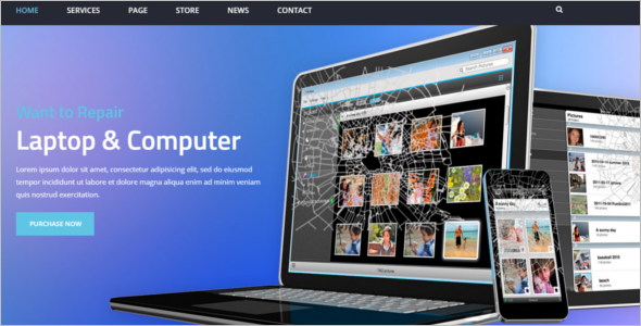 Professional Personal Website Template