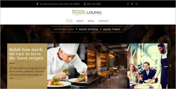 ProfessionalRestaurant Website Template