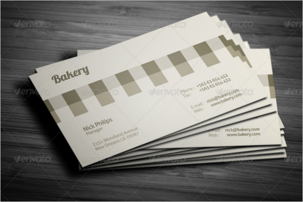 Psd Bakery Business card