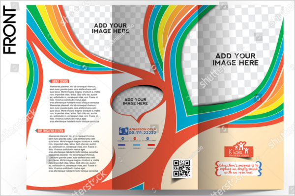 Psd Kid's School Brochure Design