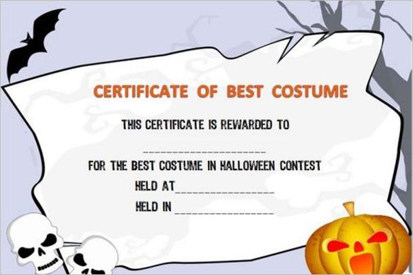 Pumpkin Contest Certificate Design