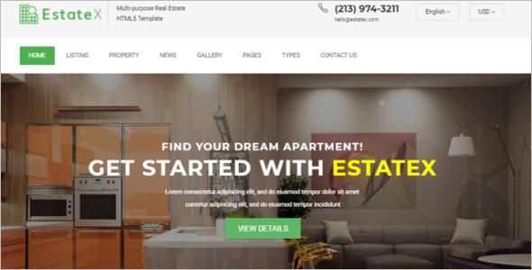 Real Estate ResponsiveWebsite Template