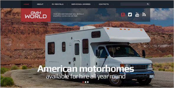 Responsive Camping Website Template