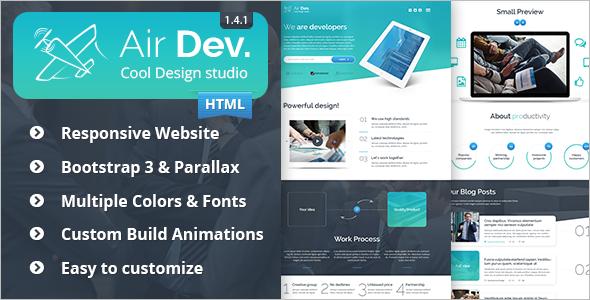 Responsive HTML Website Template