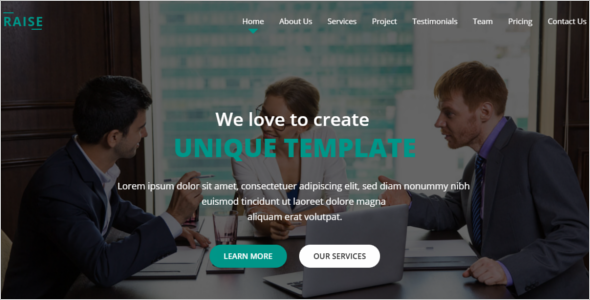 Responsive One Page Website Template