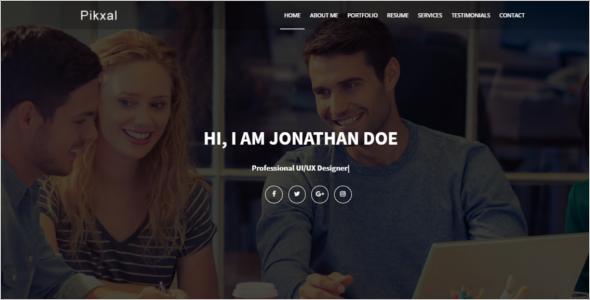 ResponsivePersonal Website Template