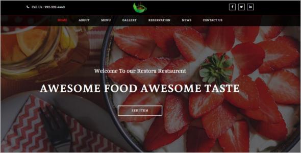 ResponsiveRestaurant Website Template