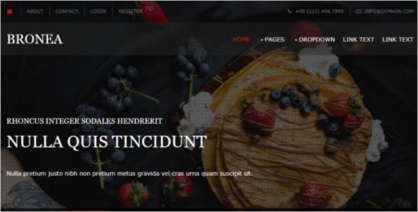 Restaurant Free HTML5 Theme