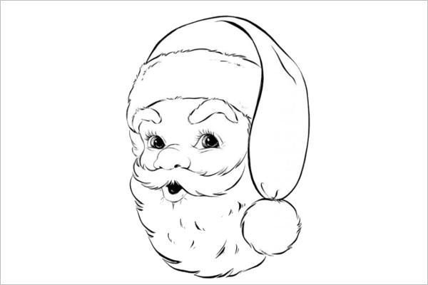Retro Santa Coloring Design