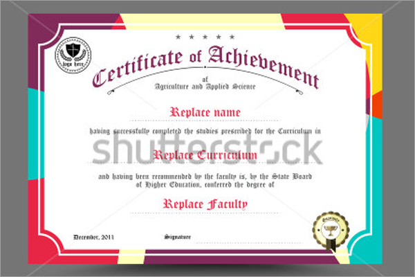 Retro School Certificate Template