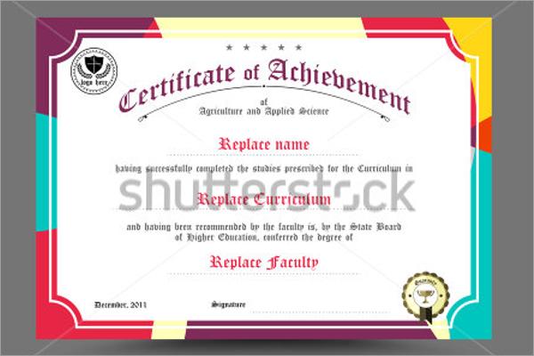 Retro School Certificate Template