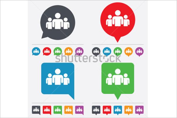 Retro Share Icon Vector Design