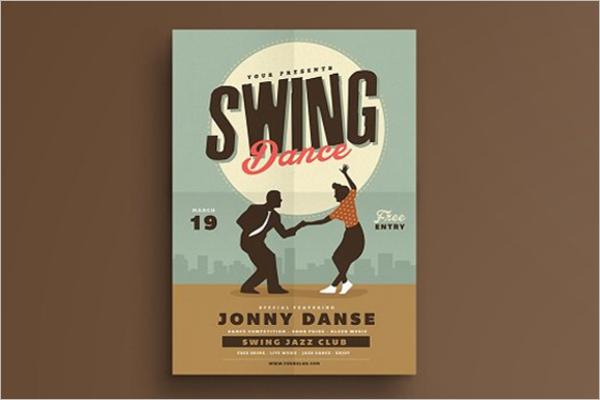 Retro Swing Dance Poster Template