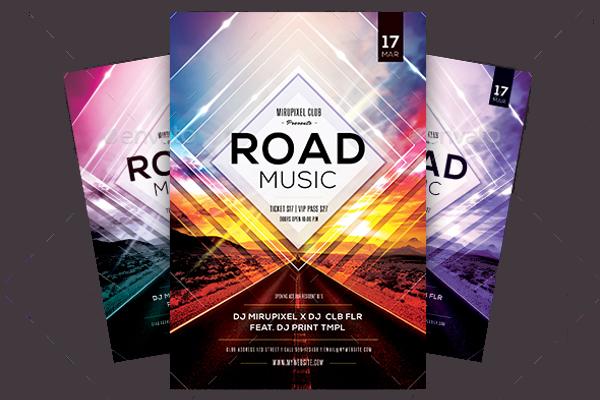 Road Music Flyer Design