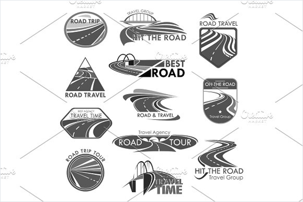 Road Travel vector Icon Template