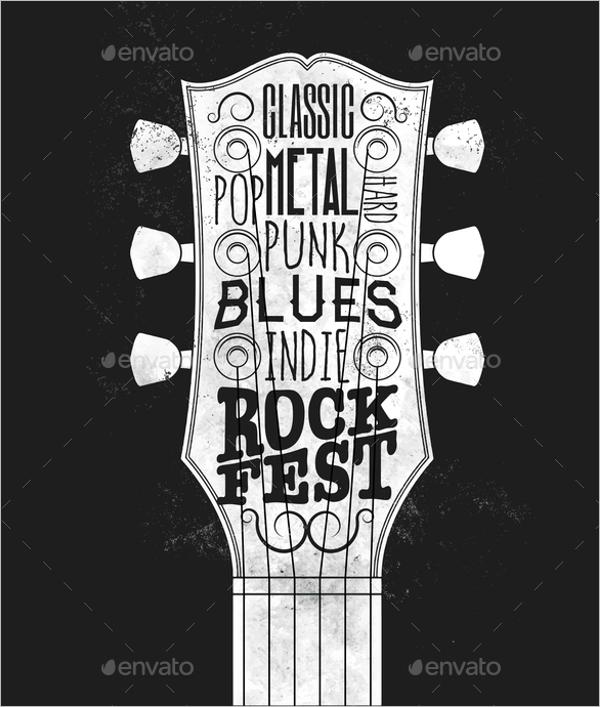 Rock Music Festival Flyer Design