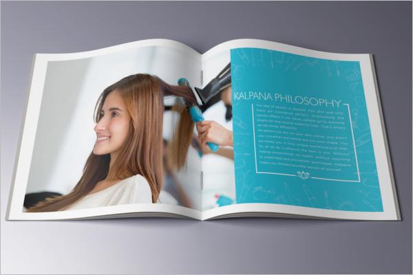 Rose Beauty Parlour Brochure Template