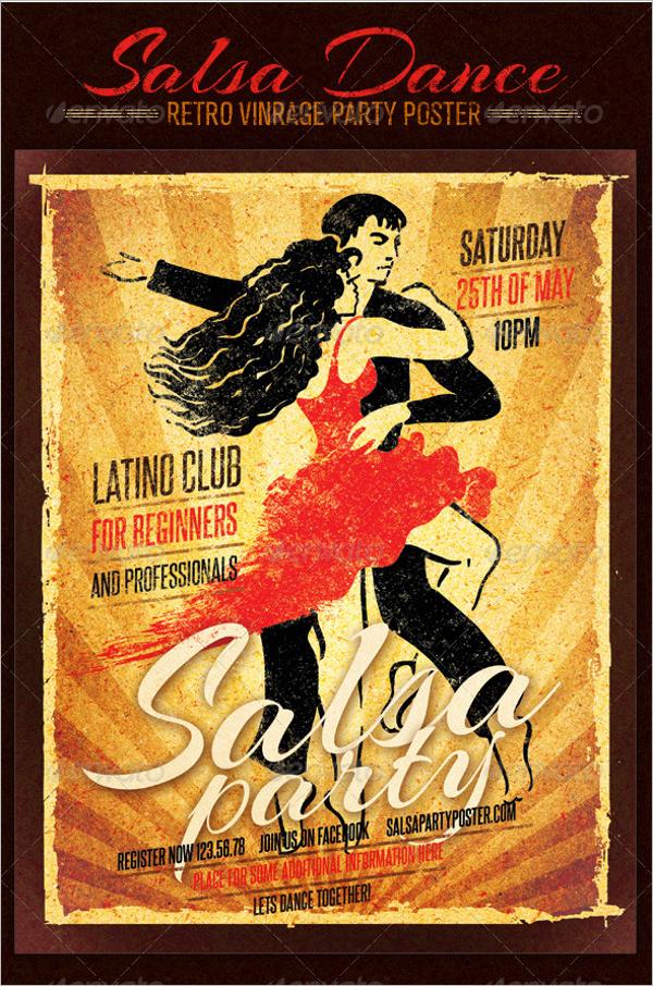 Salsa Dance Club Poster Design