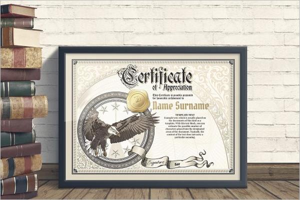 Sample Award certificate Template