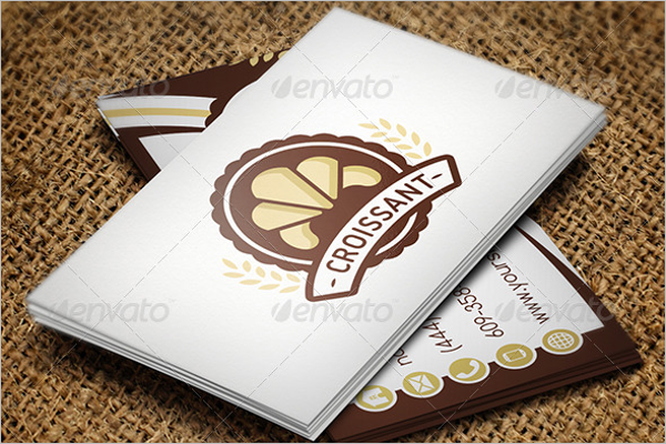 Sample Baker Business Card