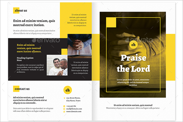 Sample Church Brochure Design