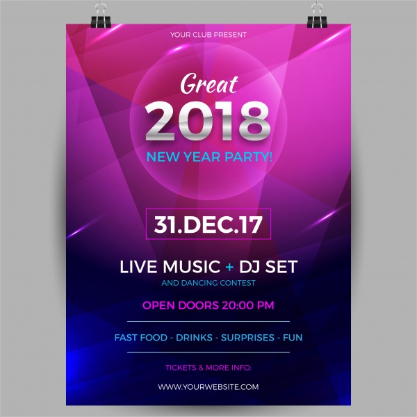 Sample Dance Party Poster Template