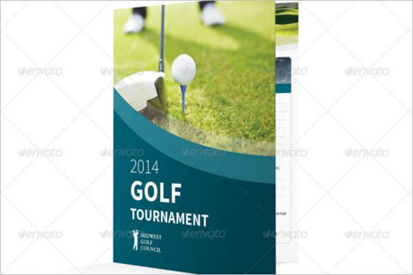 sample golf brochure template