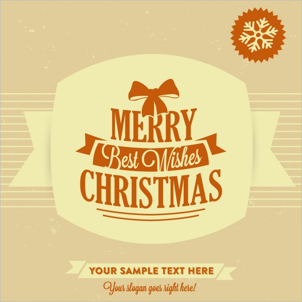 Sample Merry Christmas Design