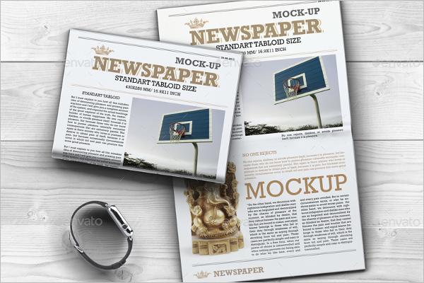 Sample Newspaper Mockup Template