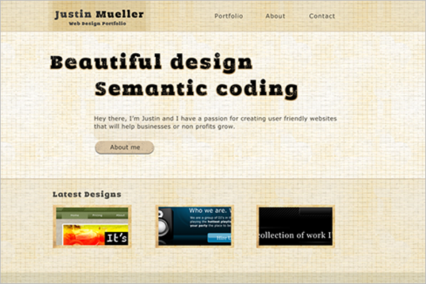 Sample Portfolio Mockup Web
