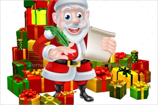 Santa Christmas Scene Decoration