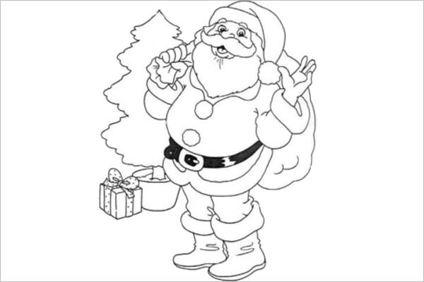 Santa Claus Drawing Design Idea