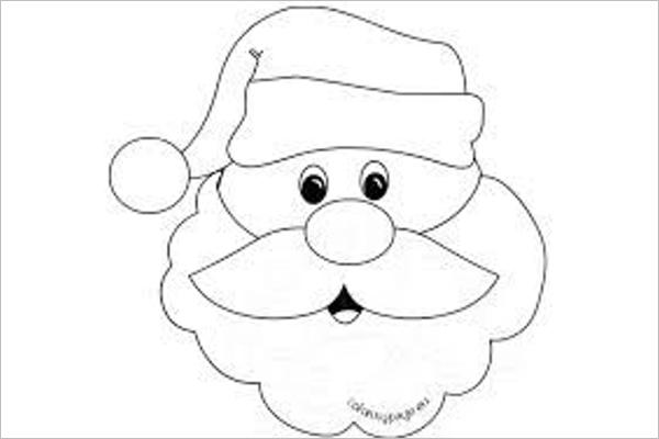 Santa Claus Drawing Template