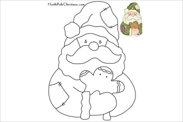Santa Claus Drawing for Kids