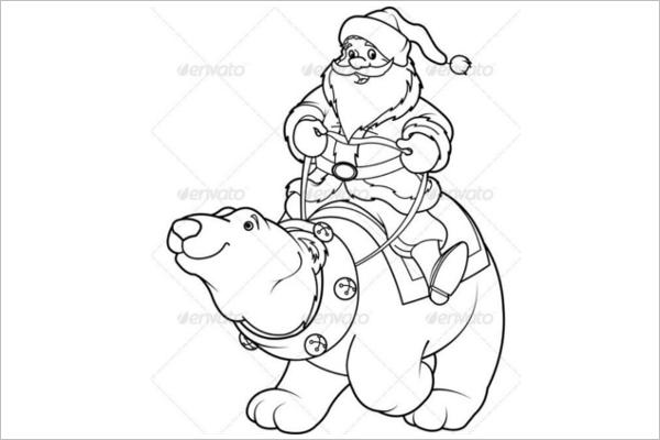 Santa Claus Easy Drawing Design