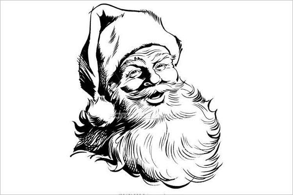 Santa Claus Face Template