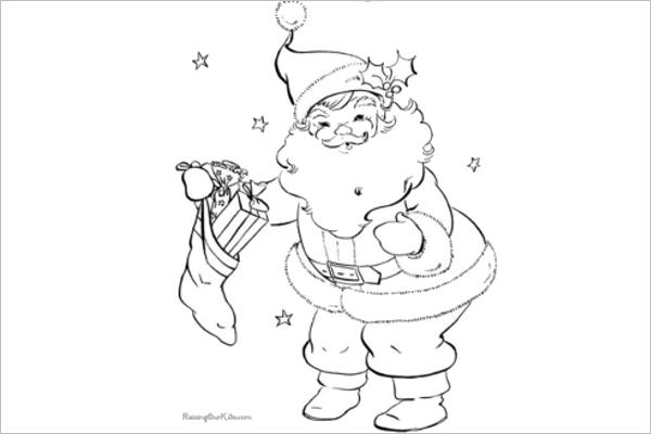 Santa Claus Free Drawing Design